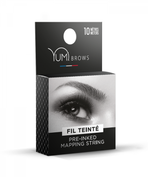 Preinked mapping string for brows